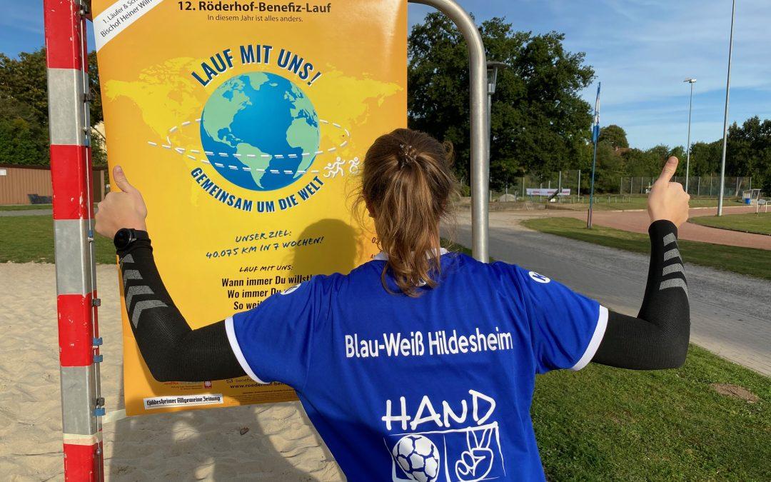 Aktionstag #gemeinsamumdiewelt der Handballabteilung der DJK Blau-Weiß Hildesheim.